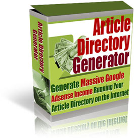 Click to view Article Directory Generator 1.0 screenshot