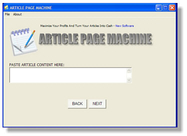 Click to view Article Page Maker 1.0 screenshot